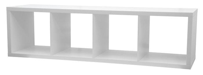 Meget Reol med 4 rum i hvid MDF | jem & fix YS43
