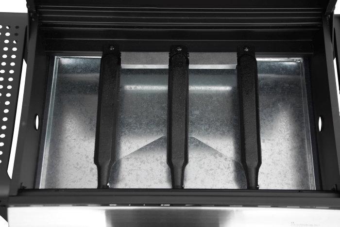 Billige Små Gasgrill : Gasgrill med 3 brændere og 2 grillriste. se den her