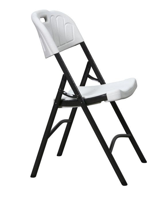 Enormt Klapstol til haven - sort/hvid | jem & fix BY22