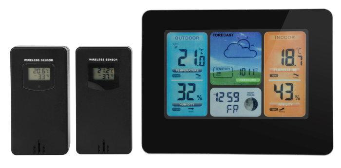 Vellidte Trådløs vejrstation med WIFI til indendørs og udendørs måling XS-18