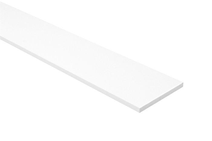 Melaminhylde 16 mm i hvid, 20 x 100 cm