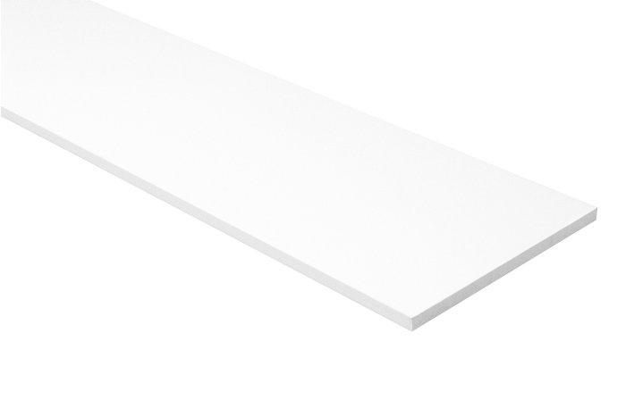 Hylde melamin hvid 16 mm x 30 x 120 cm