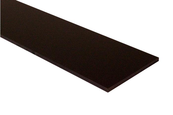 Hylde melamin sort 16 mm x 30 x 80 cm