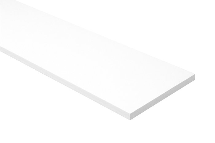 Hylde melamin hvid 22 mm x 30 x 100 cm