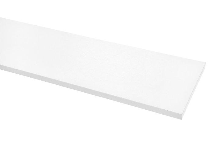 Hylle melamin hvit 16 mm