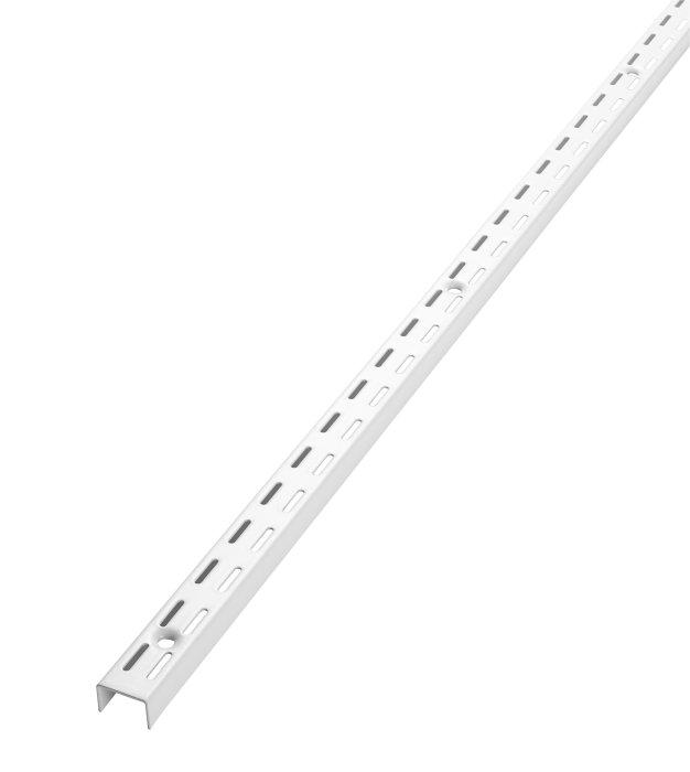 Vægvange til rack system HVID 100 cm