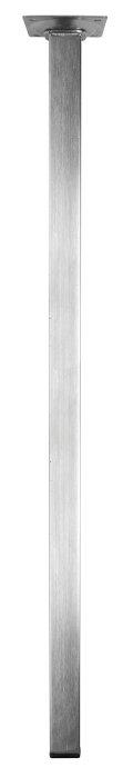 Bordben 24 x 24 mm x 70 cm stål