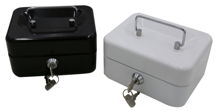Pengekasse mini - sort eller hvid