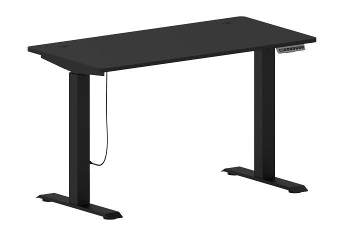 Hæve/sænke skrivebord sort 120 x 60 cm - Nordic
