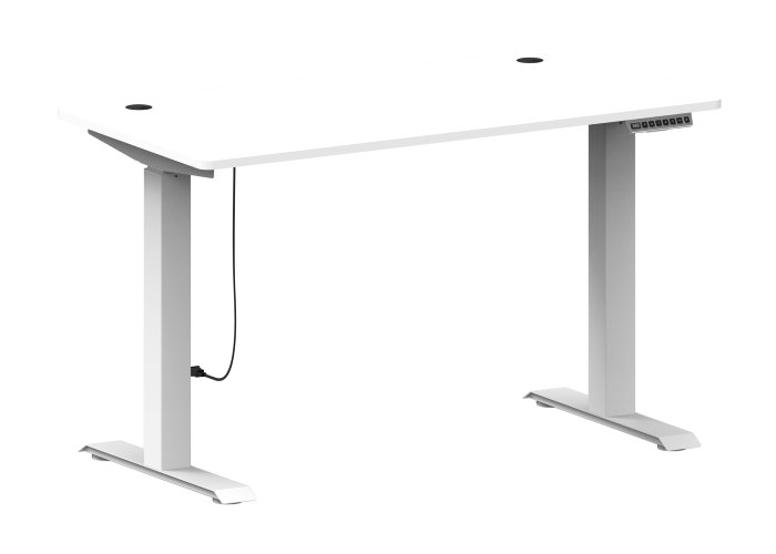 Hæve/sænke skrivebord hvid 120 x 60 cm - Nordic
