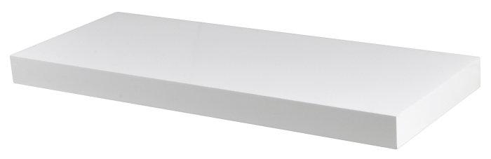 Svævehylde hvid 60 cm