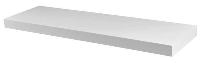 Svævehylde hvid 80 cm