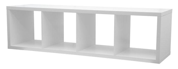 Moderne Reol med 4 rum i hvid MDF | jem & fix ZO02