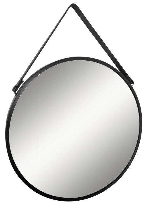Spejl rundt Ø45 cm sort