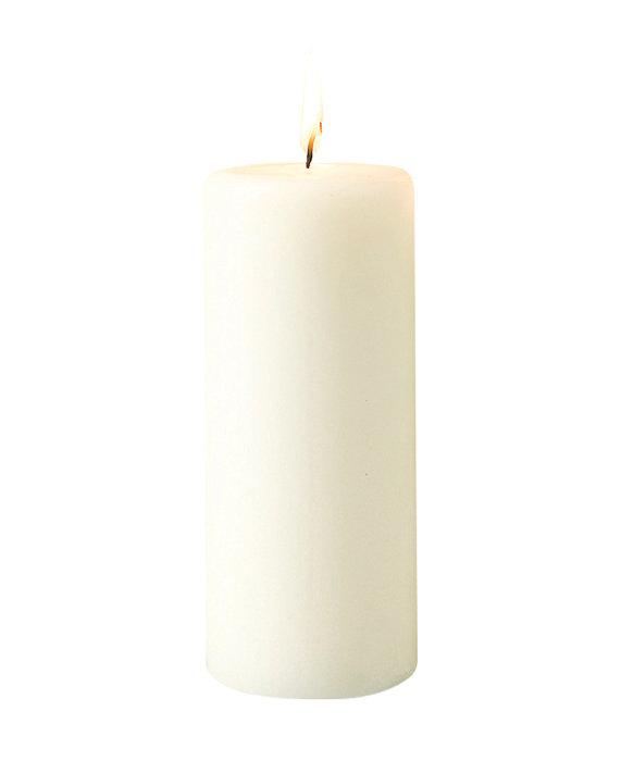 Bloklys Ø7 x 18 cm - hvid
