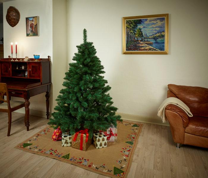 Luksus juletræ i plastik 180 cm - PRO