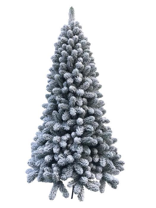 Juletræ med sne 210 cm - PRO