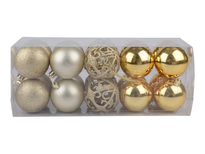 Julgranskulor Guld 20-pack