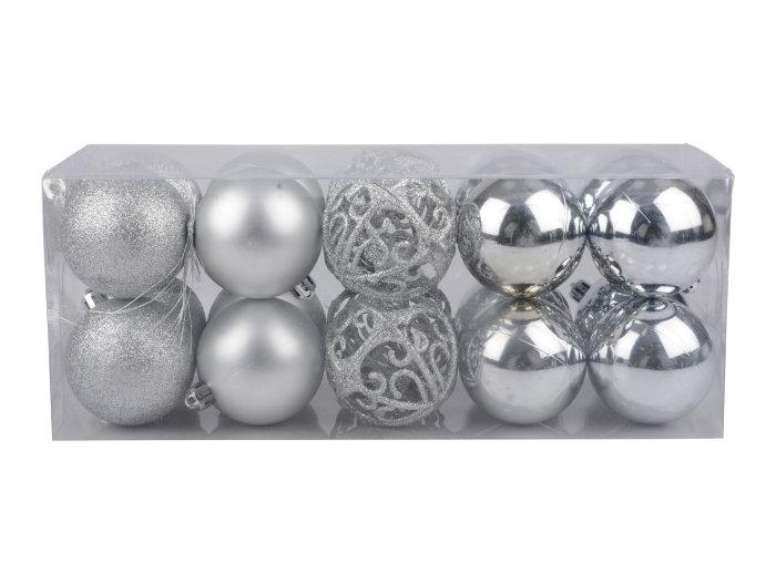 Julgranskulor Silver 20-pack