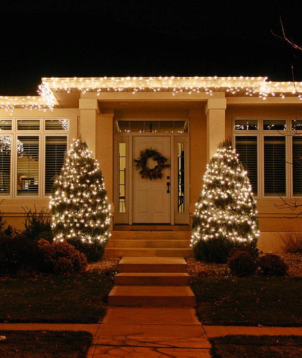 Lyskæde med istapper 100 LED - PRO julebelysning