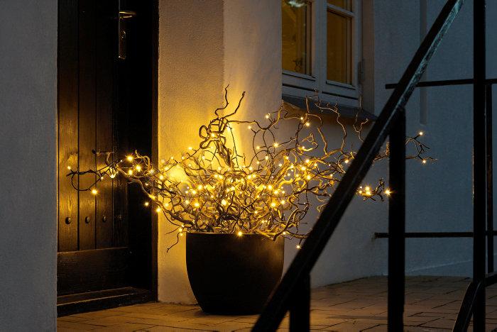 Lyskæde med 100 LED-pærer