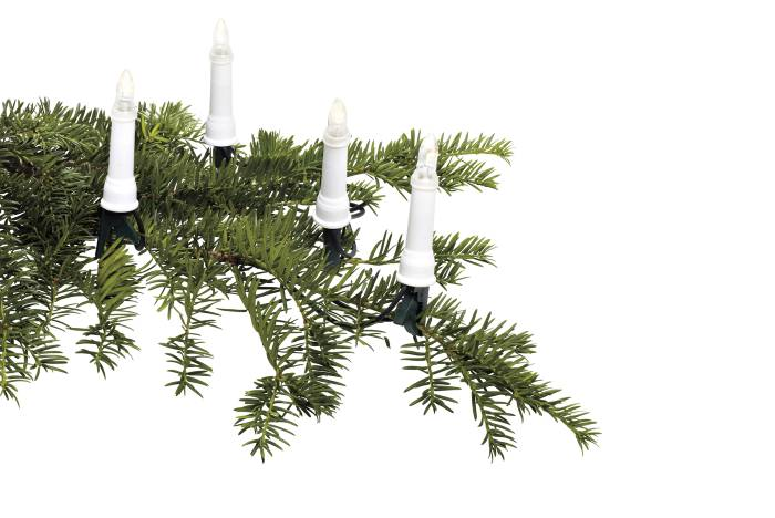 Julgransbelysning 30 LED ljus ute