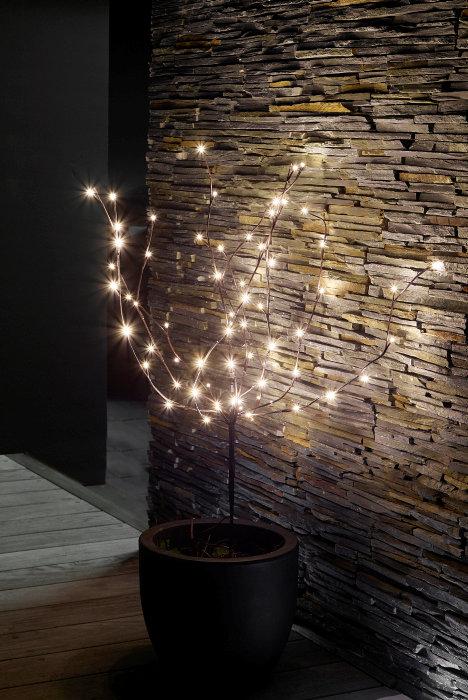 Pyntetræ 100 cm 70 LED-pærer