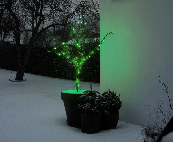 Lyskæde med 100 grønne LED-pærer
