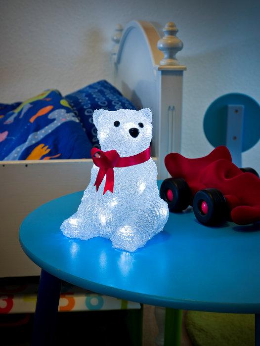 Juldekoration isbjörn LED