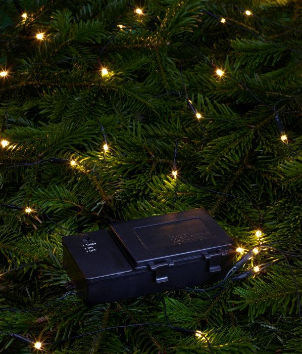 Lyskæde t/batteri 200 LED-pærer