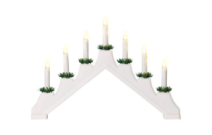 Svensk lysestage med 7 LED-pærer