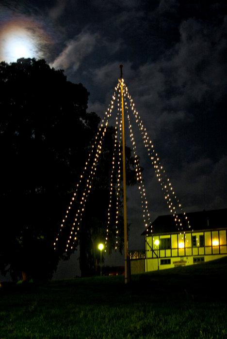 Ljusslinga för flaggstång 9 m