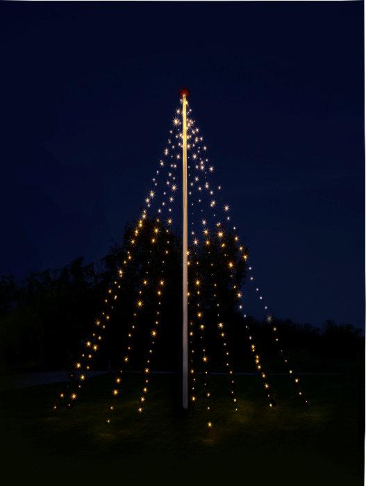 Ljusslinga för flaggstång 7 m
