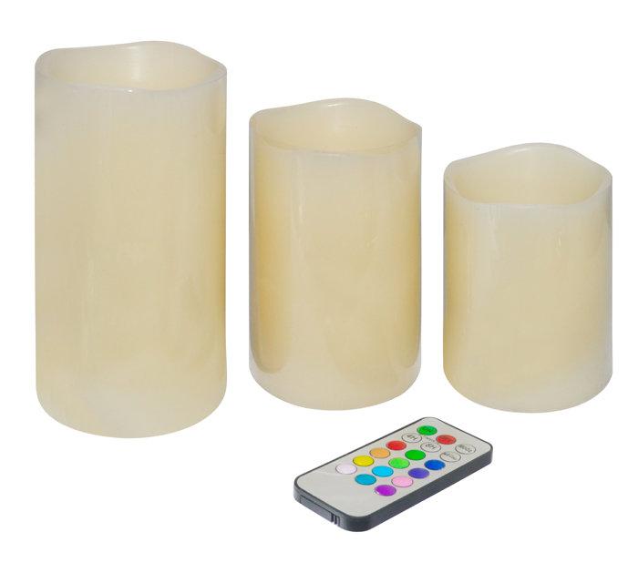 LED-bloklys med farveskift, fjernbetjening & timer