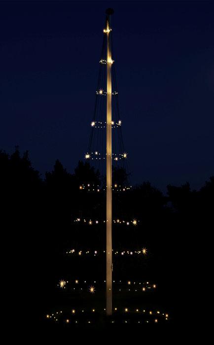 Flaggstångsnät LED - 8m
