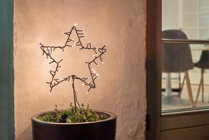 Lysstjerne spyd/ophæng 30 cm