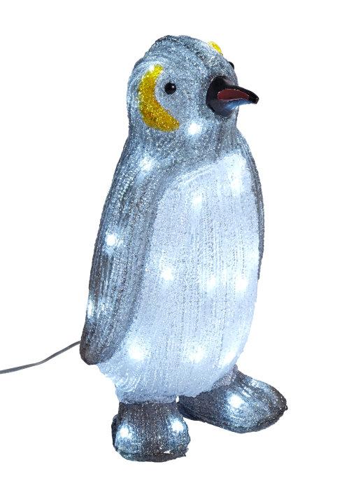 Pingvin i akryl med 34 LED-pærer