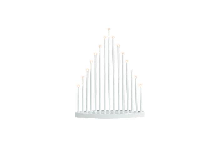 Ljusstake 15 små LED ljus vit