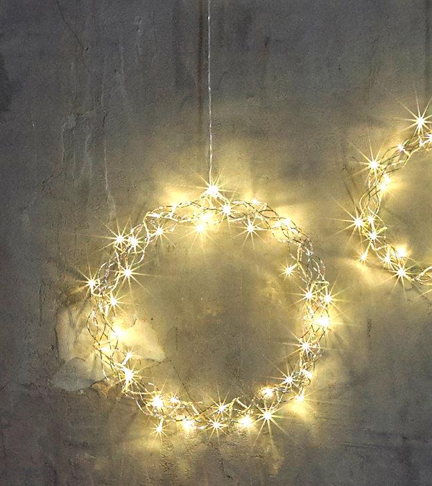 Krans med LED lampor 32 cm