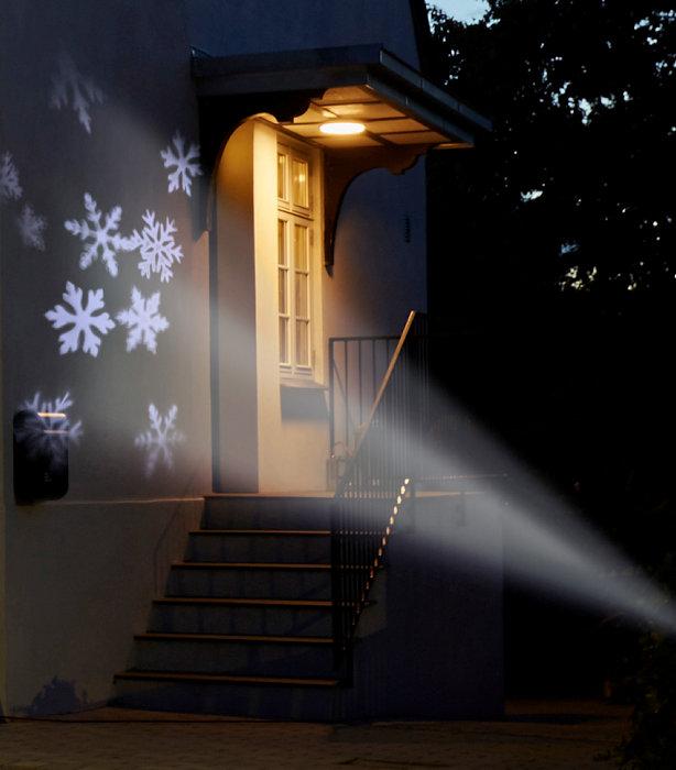 Spotlight snöflingor