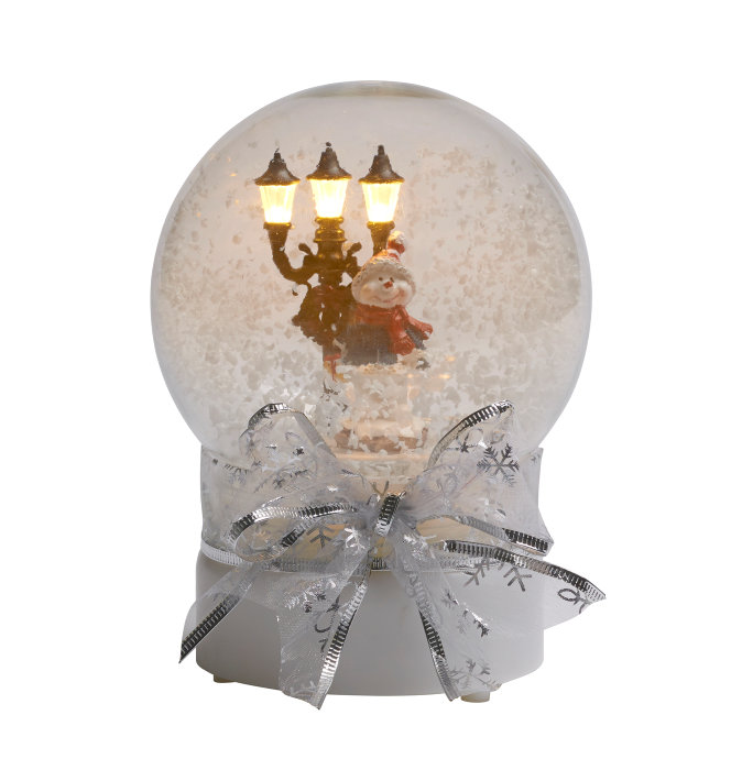 Julekugle med lys, musik og sensor