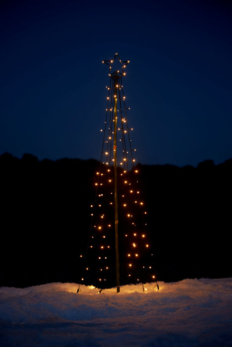 Juletræ med pærer og stjerne 180 cm
