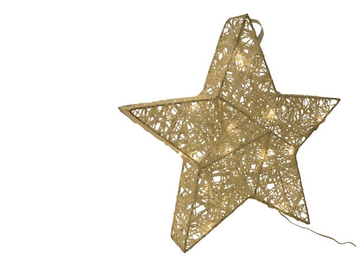 Adventsstjärna glitter stor