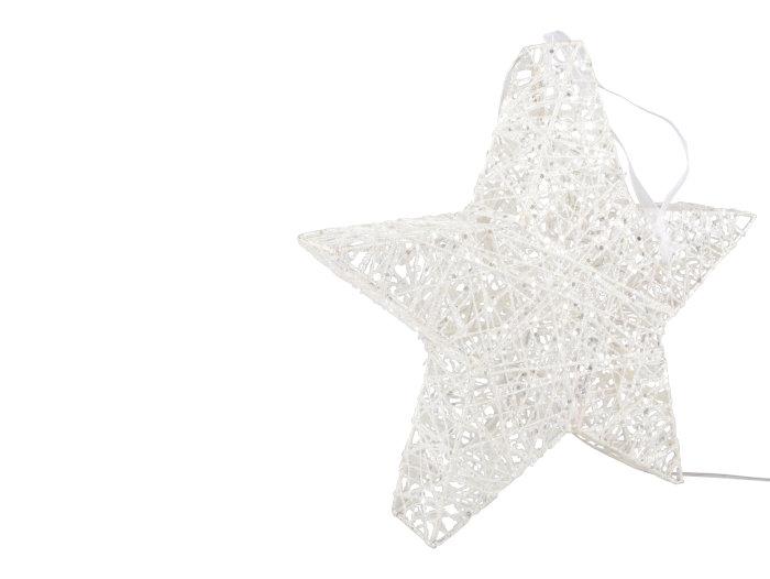 Adventsstjärna glitter liten