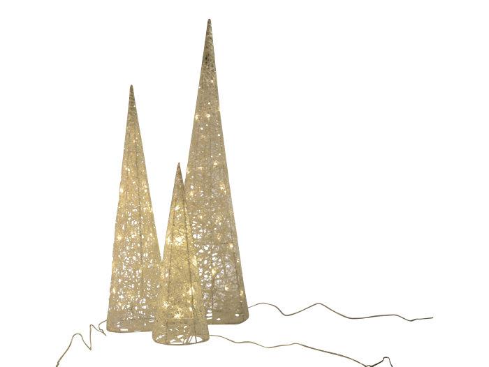 Julbelysning koner 3-pack