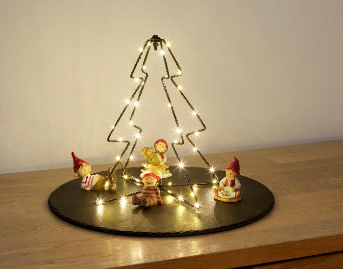 3D juletræ med 40 LED lys og timer