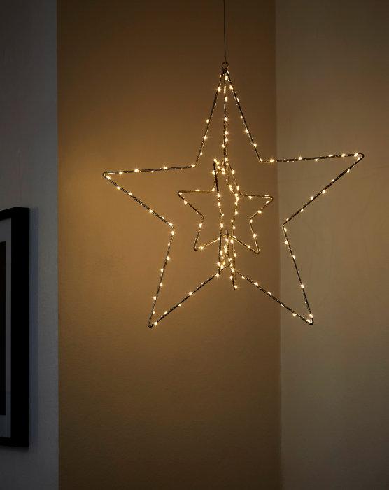 3D foldbar stjerne med 142 LED-lys