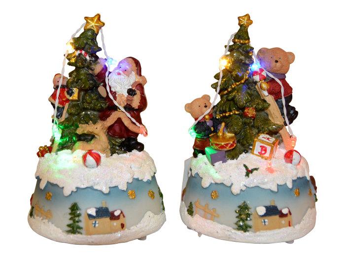 Juldekoration Tomte och Björn