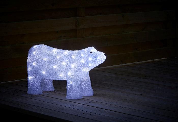 Isbjørn i akryl med 50 LED