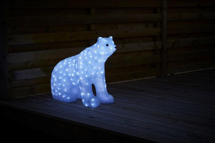 Isbjørn akryl 200 LED